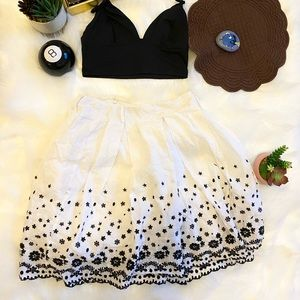 Starcity skirt with black embroidered detailing